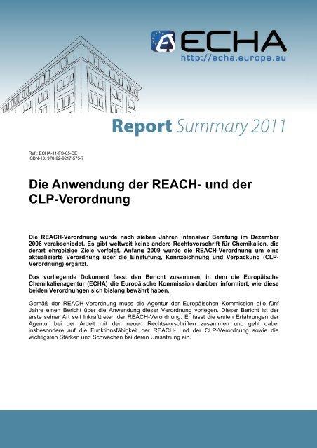 Die Anwendung Der Reach Und Der Clp Verordnung Userpage