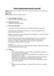 Referat af Landsledelsesmødet onsdag den 2. januar 2008 Tilstede LL