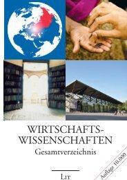 WIRTSCHAFTS- WISSENSCHAFTEN