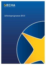 Arbeitsprogramm 2013 - ECHA - Europa