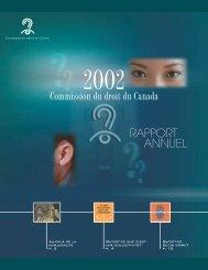Commission du droit du Canada RAPPORT ANNUEL