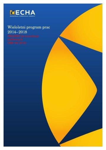 Wieloletni program prac 2014–2018 - ECHA - Europa