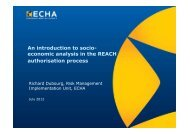 Introduction to SEA in authorisation July2012 - ECHA - Europa