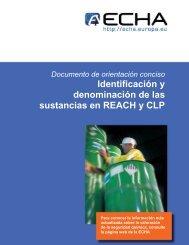 Identificación y denominación de las sustancias en ... - ECHA - Europa