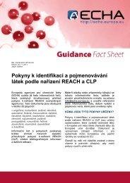 Pokyny k identifikaci a pojmenovávání látek podle ... - ECHA - Europa