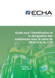 Guide pour identification et la - ECHA - Europa