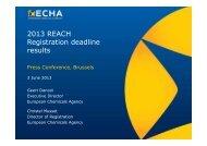 Press conference presentation - ECHA - Europa