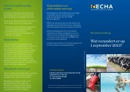 Wat verandert er op 1 september 2013? - ECHA - Europa