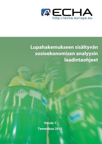 COVER PAGE - ECHA - Europa
