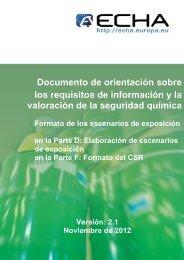 Documento de orientación sobre los requisitos de ... - ECHA - Europa