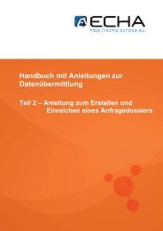 Anleitung zum Erstellen und Einreichen eines ... - ECHA - Europa