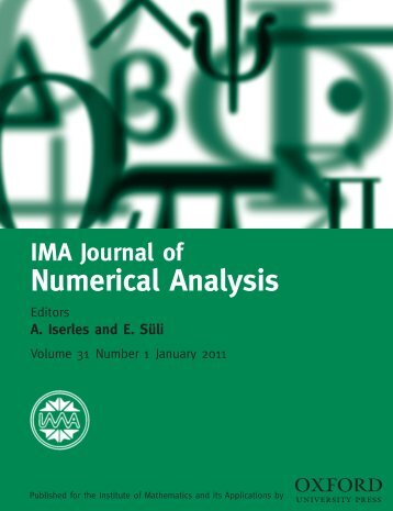 Front Matter (PDF) - IMA Journal of Numerical Analysis - Oxford ...
