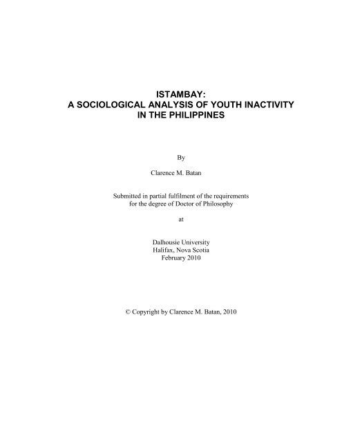 istambay: a sociological analysis of youth inactivity in the