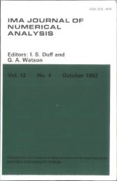 Front Matter (PDF) - IMA Journal of Numerical Analysis