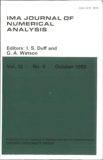 Front Matter (PDF) - IMA Journal of Numerical Analysis