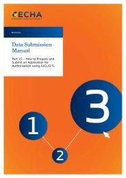 Data Submission Manual - ECHA - Europa