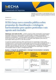 Communication on the safe use of chemicals - ECHA - Europa