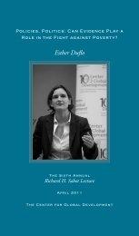 Esther Duflo - Center for Global Development