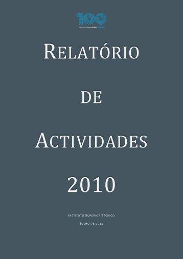 RELATÓRIO DE ACTIVIDADES - Universidade Técnica de Lisboa