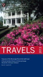 Treasures of the Mississippi River & the Gulf Coast - Harvard Alumni ...