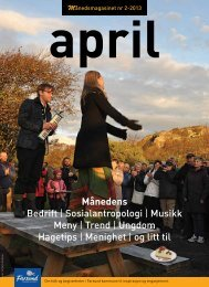 Månedsmagasinet april - Lister Media