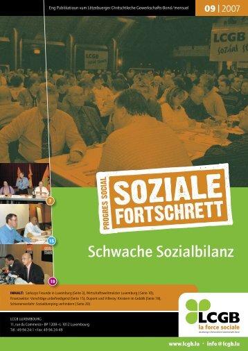 Schwache Sozialbilanz - LCGB