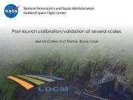 Post-launch calibration/validation at several scales - Landsat