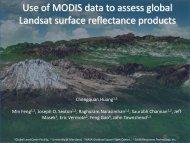 Use of MODIS data to assess global Landsat surface reflectance ...
