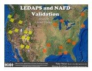 LEDAPS and NAFD Validation - Landsat