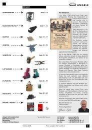 ANGELE Schmiedetechnik Katalog 2008