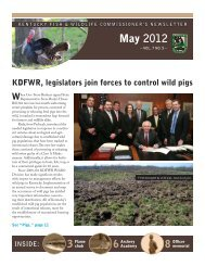 May 2012 Newsletter - Kentucky Department of Fish and Wildlife ...