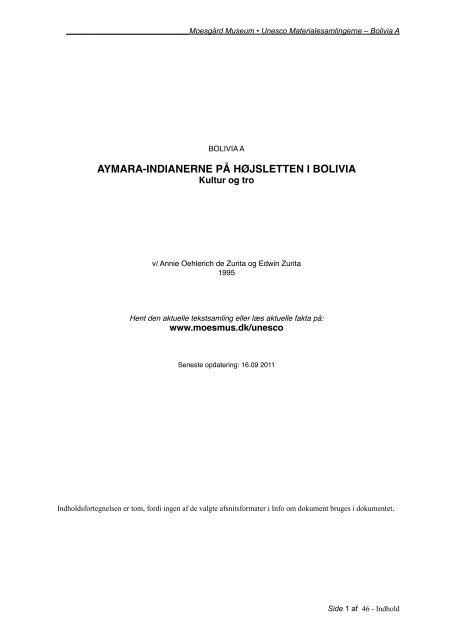 PDF: oprindelig tekst til Bolivia A - Moesgård Museum