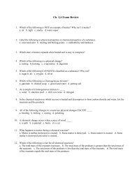 Ch. 2,4 Exam Review