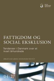 Fattigdom og social eksklusion - SFI