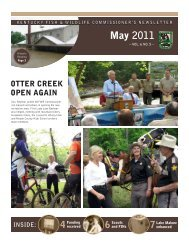 May 2011 Newsletter - Kentucky Department of Fish and Wildlife ...