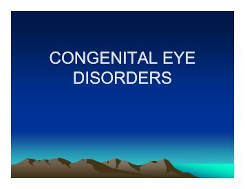 CONGENITAL EYE DISORDERS