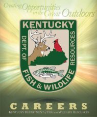 Career Brochure - Kentucky Department of Fish and Wildlife ...