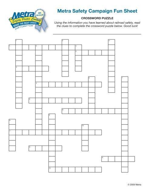 Crossword Puzzle Metra