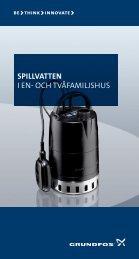 Spillvatten i en- och tvåfamiljshus - Grundfos