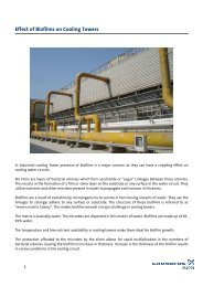 Effect of Biofilms on Cooling Towers - Energy-efficient pumps for ...