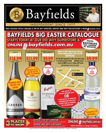 BAYfIELdS BIG EASTER CATALOGUE - Netstarter