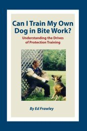 Can I Train My Own Dog in Bite Work? - Leerburg Enterprise, Inc
