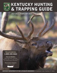 trapping guide - Kentucky Department of Fish and Wildlife Resources
