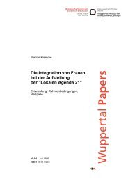 WP94.pdf - Publication Server of the Wuppertal Institute - Wuppertal ...