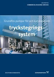 tryckstegrings- system - Energy-efficient pumps for commercial ...