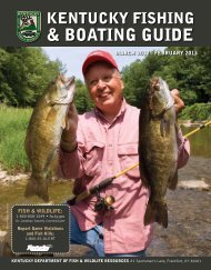 Introduction - Kentucky Department of Fish and Wildlife Resources
