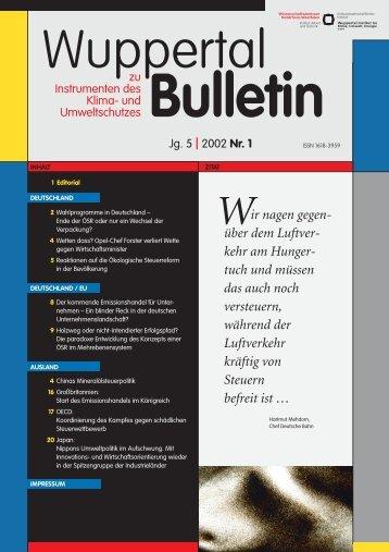 WB_2002-1.pdf - Wuppertal Institut für Klima, Umwelt, Energie