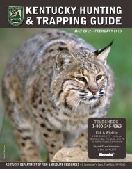 & TRAPPING GUIDE - Kentucky Department of Fish and Wildlife ...