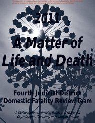 Fourth Judicial District Domestic Fatality Review Team - Minnesota ...