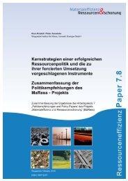 MaRess_AP7_8.pdf - Wuppertal Institut für Klima, Umwelt, Energie